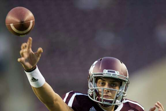 Texas A&M quarterback Nick Starkel will be the fifth different quarterback in the last six seasons to start for the Aggies against Mississippi.