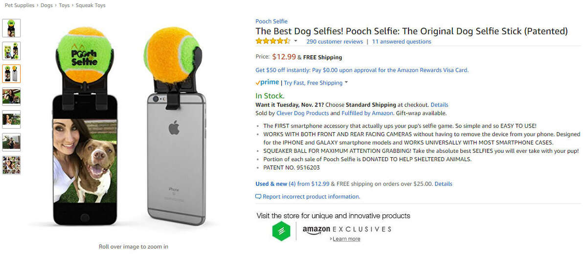 Pooch Selfie:Get the perfect picture every time. Amazon link: Pooch selfie