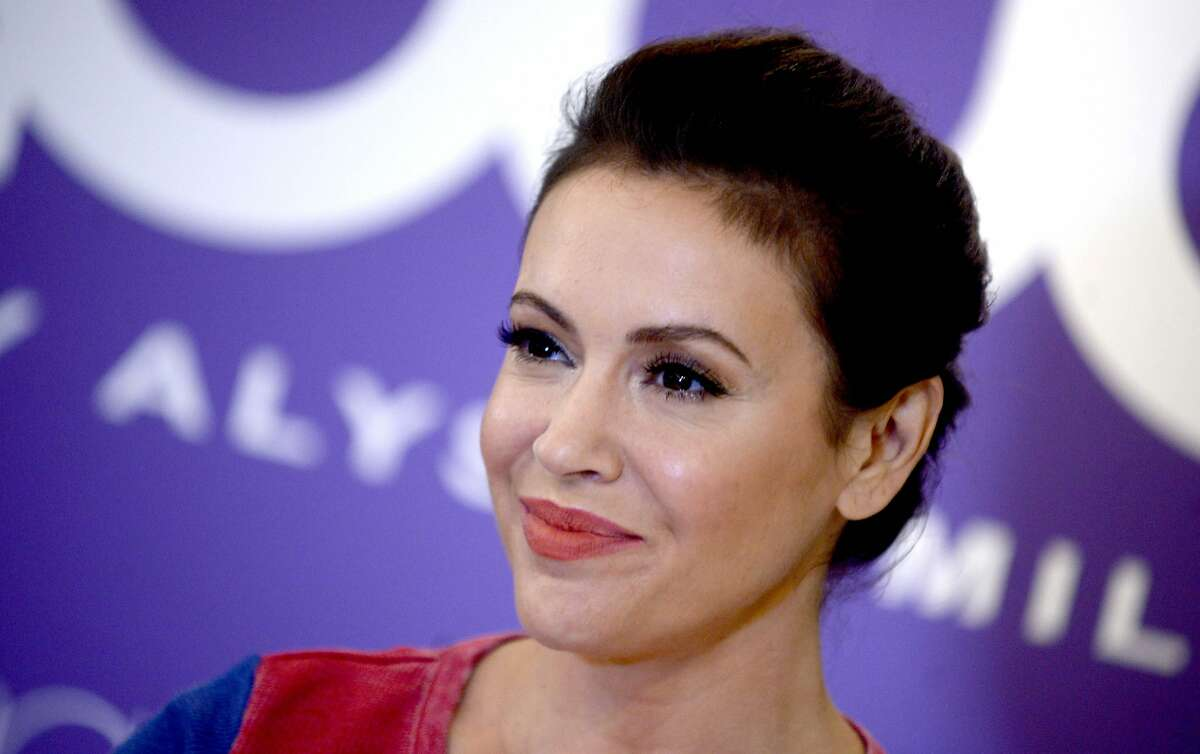 Alyssa Milano at in-store appearance for Touch by Alyssa Milano Fall Collection Launch, Macy's Herald Square Department Store in New York on August 23, 2017. (Dennis Van Tine/Abaca Press/TNS)