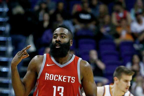 James Harden, left, sees less stress in his future if Chris Paul handles more of the Rockets' playmaking.