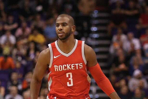 With one game under his belt now, Chris Paul, left, is eager to face the next challenge as he works on fitting into the Rockets' offense that has relied so heavily on James Harden in the past.