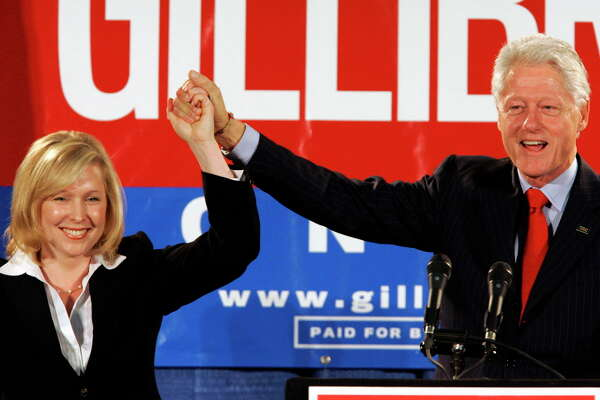 U.S. Sen. Kirsten Gillibrand said that former President Bill Clinton should have resigned over his sexual affair with White House intern Monica Lewinsky 20 years ago.  (Jim McKnight / Associated Press)