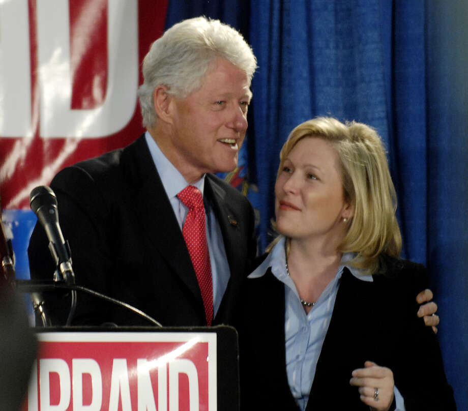 Former President Bill Clinton stumps for Kirsten Gillibrand at the Glens Falls Airport on Nov.  6, 2006.  (Skip Dickstein/Times Union) / ALBANY TIMES UNION