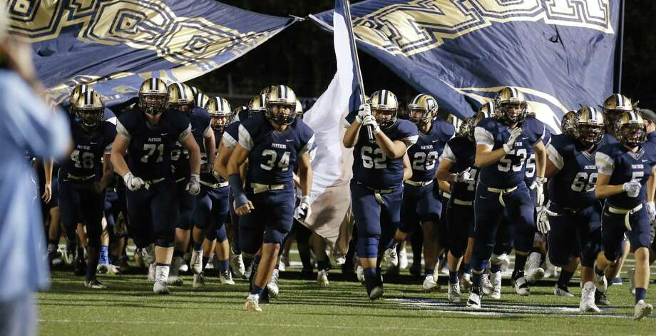 The O'Connor Panthers take the field for the game against Clemens during their Class 6A Division I bidistrict high school football playoff game at Farris Stadium on Friday, Nov. 17, 2017. (Kin Man Hui/San Antonio Express-News) Photo: Kin Man Hui, Staff / San Antonio Express-News / ©2017 San Antonio Express-News