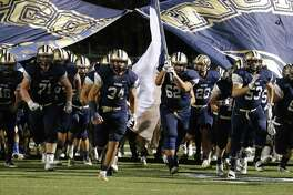 The O'Connor Panthers take the field for the game against Clemens during their Class 6A Division I bidistrict high school football playoff game at Farris Stadium on Friday, Nov. 17, 2017. (Kin Man Hui/San Antonio Express-News)