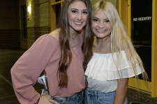Mackenzie Murdock and Madison Wilson were at the Cody Johnson and Friends with Mark Chesnutt concert at Ford Park Friday. The performance is helping raise funds to aid those impacted by Tropical Storm Harvey. Photo taken Friday, November 17, 2017 Kim Brent/The Enterprise