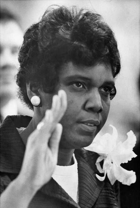 01/10/1967 - Barbara Jordan takes oath to become first African American Texas state senator since 1883 and the first black woman to serve in the Texas Senate. Photo: Curtis McGee, HC Staff / Houston Chronicle