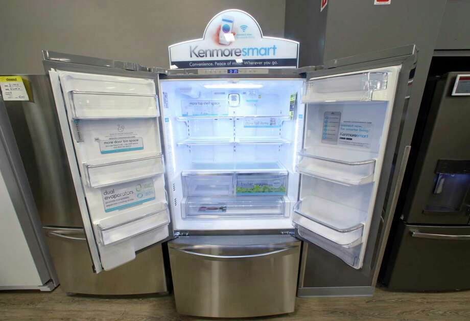 The Kenmore Elite Smart French Door Refrigerator appears on display at a Sears store. The owner of Sears is selling its Kenmore-branded appliances on Amazon in some markets. Photo: Rick Bowmer, STF / Copyright 2017 The Associated Press. All rights reserved.