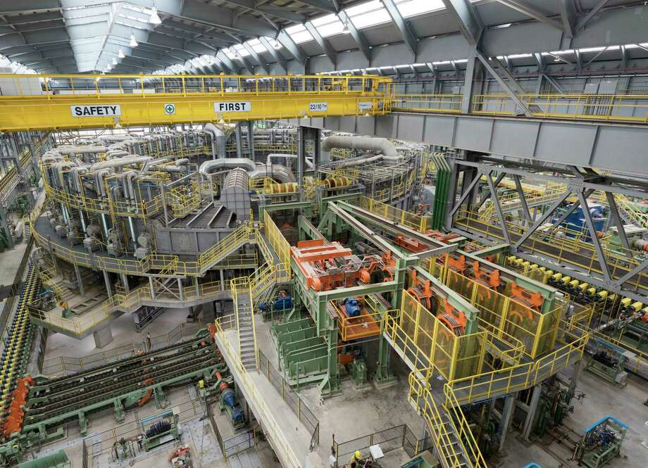 Tenaris expects its new 1.2-million-square-foot mill in Bay City to produce 600,000 tons of steel pipe a year. The heavily automated plant has about 600 workers. Photo: Tenaris/Ken Childress Photography / ©2017 Ken Childress Photography