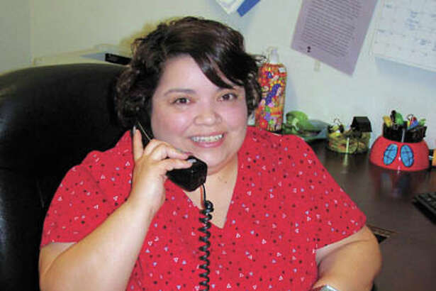 On a typical day, here's how you'll see St. Joseph's Estella Guevara—on  the phone, making sure clients get the best care possible. Call St.  Joseph's at 432-684-5858 today.