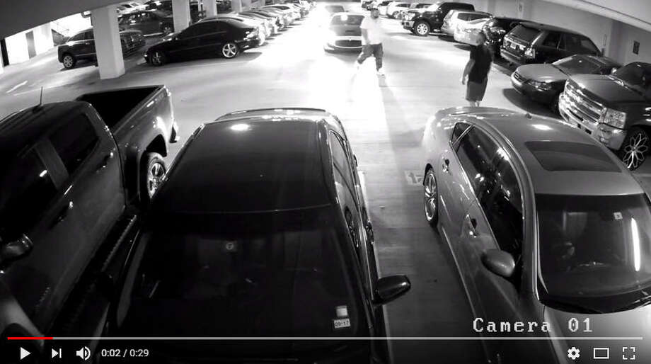 Taylor Gruwell-Miller, 26, was last seen in this parking garage before falling to her death. Police are searching for possible witnesses. Photo: Dallas Police Department