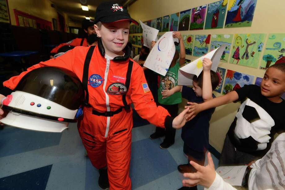 Columbus Magnet School's Young Astronaut program has been awarded a $2,000 grant from Sikorsky and Lockheed Martin. Photo: Erik Trautmann / Hearst Connecticut Media / (C)2016, The Connecicut Post, all rights reserved