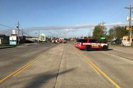 Two power poles were knocked down on College Street after a wreck Saturday. The street has since been reopened.