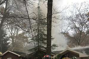 The fire tokk place on Saw Mill Road in Weston, Conn., around 1 p.m. on Nov. 18, 2017. Weston Fire Department said the first units to respond saw heavy fire and smoke from the back of the residence. Since Saw Mill Road runs through Weston and Fairfield, the Fairfield Fire Department responded as well.