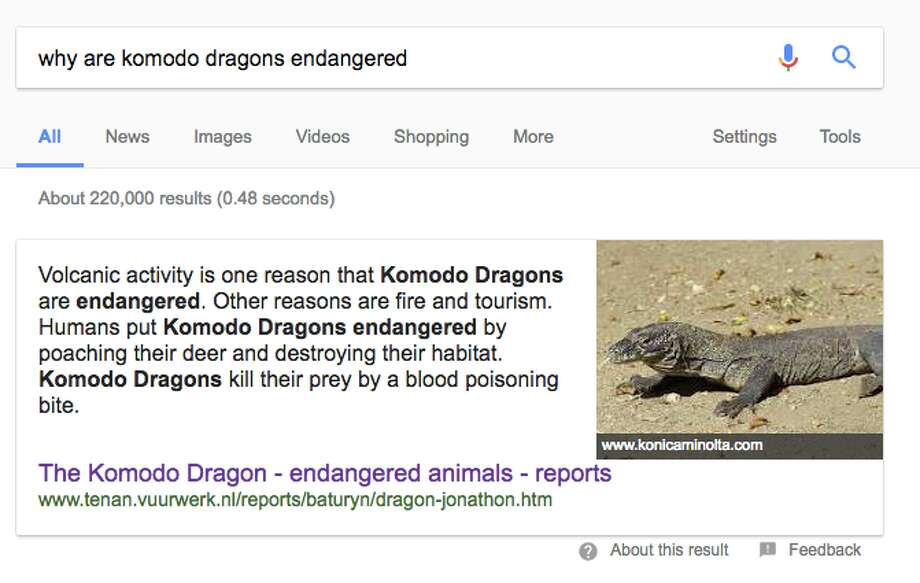 Google's instant answer snippets sometimes pull text from questionable websites and forums. Click through the gallery to see some examples. Photo: Screenshot Via Google