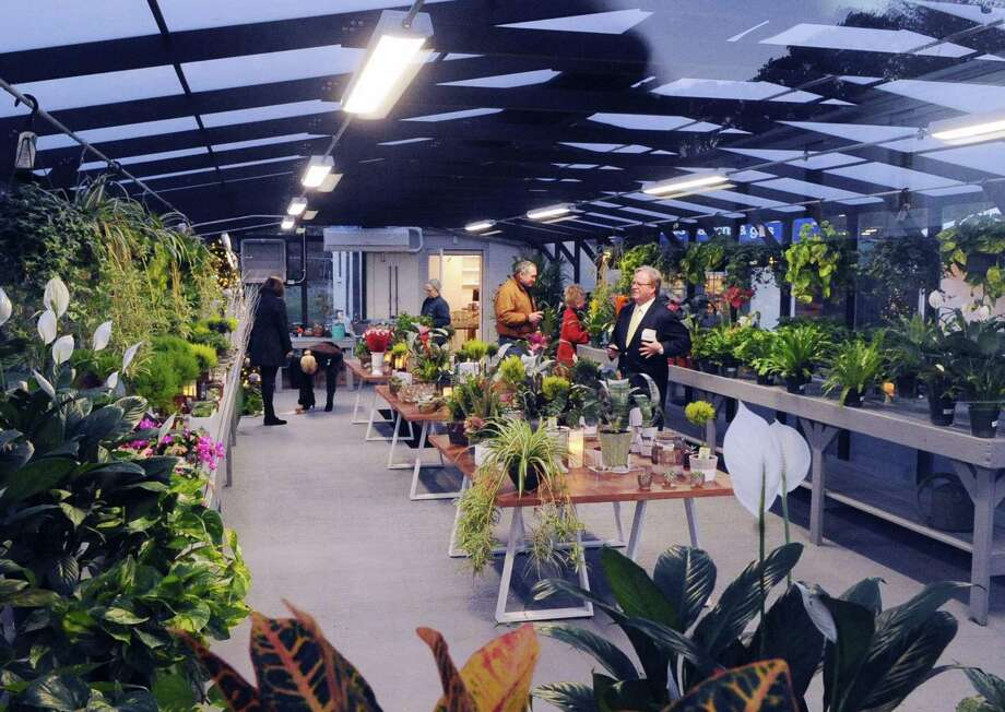 The inside of the greenhouse is seen during the grand re-opening and ribbon cutting ceremony for the newly remodeled Abilis Gardens & Gifts Shop at Abilis in the Glenville section of Greenwich, Conn., Thursday night, Nov. 16, 2017. The Abilis Gardens & Gift Shop is a retail training site where Abilis trains adults with developmental disabilities to work toward community-based jobs in the retail industry. Photo: Bob Luckey Jr. / Hearst Connecticut Media / Greenwich Time