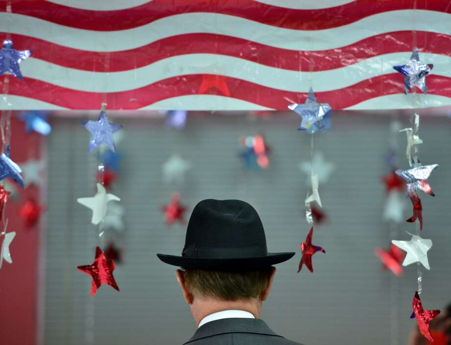 A distincive fedora, a trademark of Judge Nelson Wolff while he filed his re-election paperwork at the Bexar County democratic Headquarters Wednesday. Photo: Robin Jerstad, Freelance / San Antonio Express News