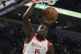 PHOTOS: Rockets game-by-game   Clint Capela has made 64.3 percent of his free throws this season, but in the five games prior to Sunday, he went 9 of 19 from the line.   Browse through the photos to see how the Rockets have fared through each game this season.