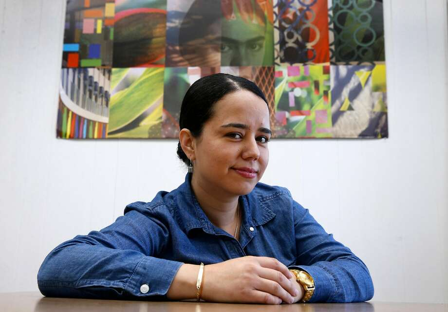 Claudia Mercado, founder of Calibueno cannabis canning and distribution, is close to securing a marijuana business permit in Oakland. Photo: Paul Chinn, The Chronicle