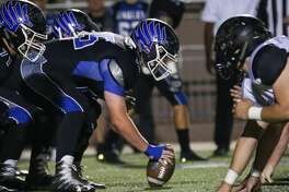 The New Caney offensive line faces off with Vidor during the varsity football game on Friday,  Nov. 17, 2017, at Galena Park ISD Stadium. (Michael Minasi / Houston Chronicle)
