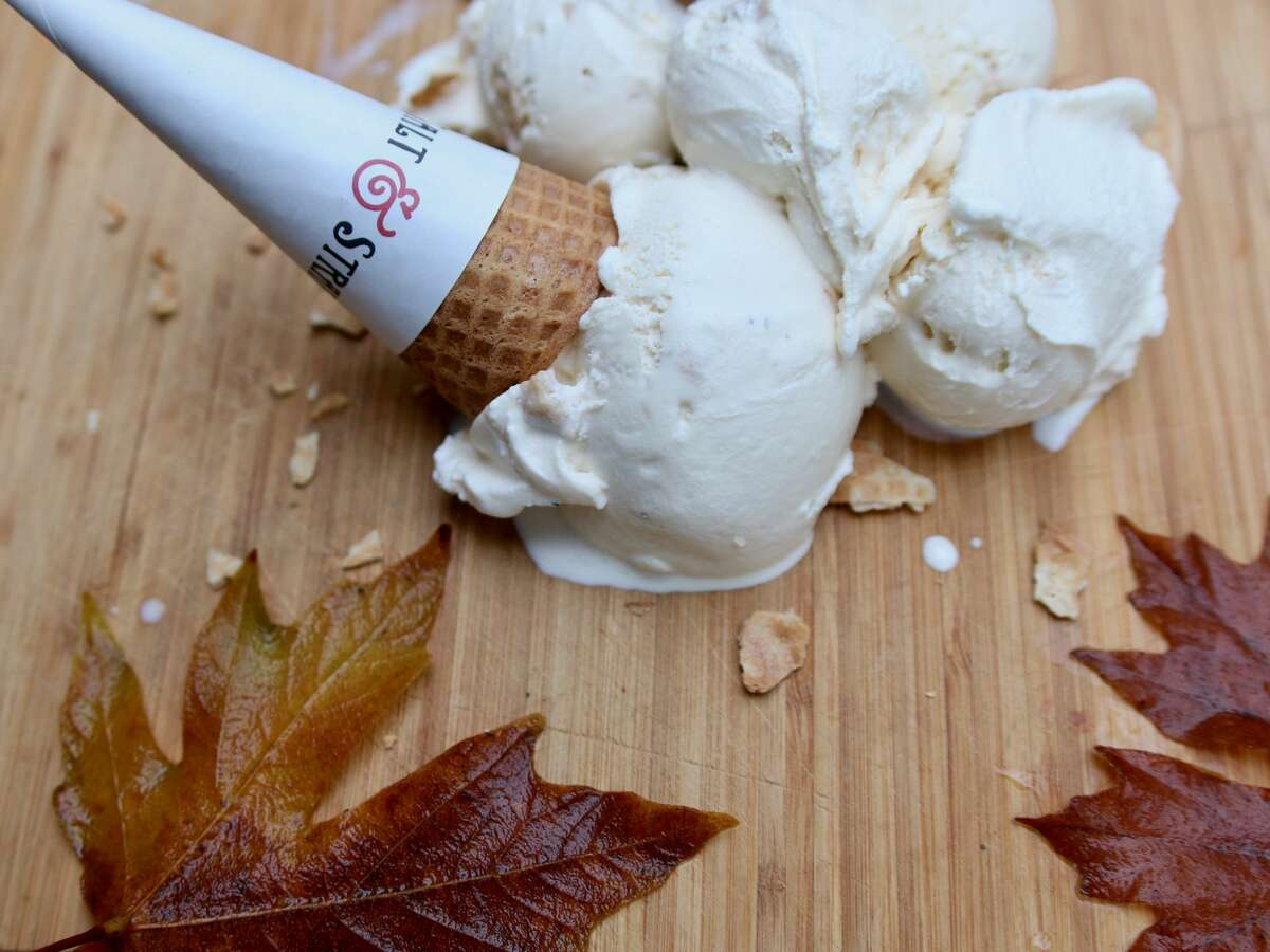 The salted caramel turkey ice cream from the Salt & Straw Thanksgiving menu.