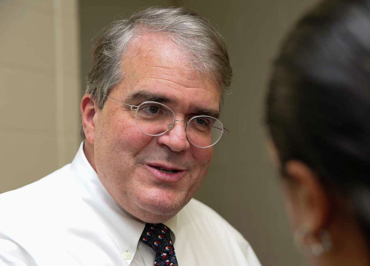 Congressman John Culberson is photographed during an interview before meeting his constituents from the 7th Congressional Distric for a town hall at Spring Branch Middle School Saturday, March 25, 2017, in Houston. ( Yi-Chin Lee / Houston Chronicle )