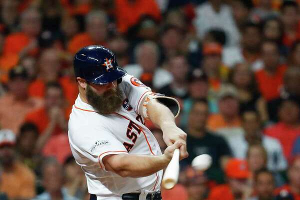 Though Evan Gattis hit just 12 homers in 325 plate appearances last season, the Astros plan to have him serve as their primary designated hitter in 2018 instead of as the backup catcher.