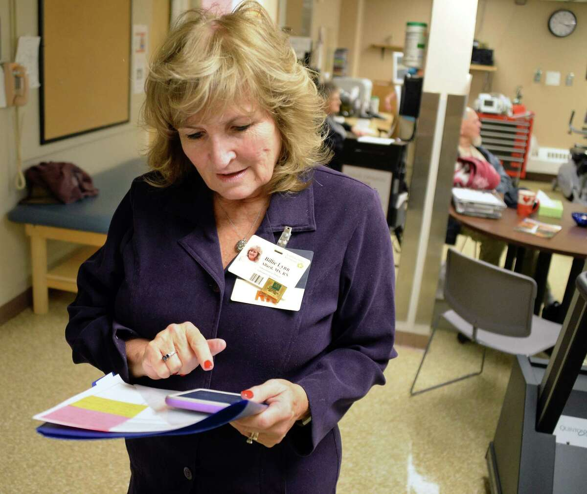 Administrative director of outpatient services and transitions of care Billie Lynn Allard, MS,RN at Southern Vermont Medical Center Nov. 15, 2017 in Bennington, Vermont. (John Carl D'Annibale / Times Union)