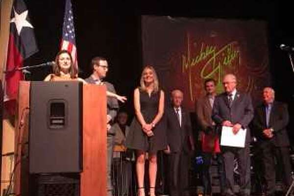 Sharity Productions presented a Special Tribute and Remembrance to John W. Wiesner at Saturday before the Mickey Gilley and Mary Sarah concert at the Crighton Theatre in Downtown Conroe.