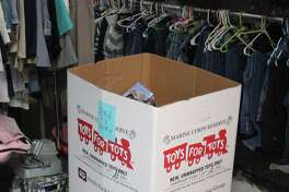 Boxes such as this one located at the Community and Children's Impact Centerare set up all over San Jacinto County to collect donations for Toys for Tots. Boxes are confirmed to be set up in the San Jacinto County courthouse, sheriff's office and all four Pct. barns.