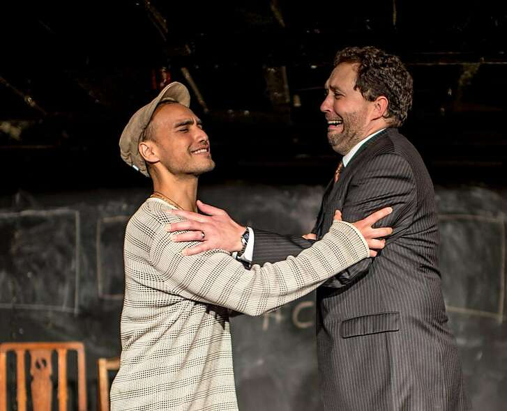 """From left:�Shoresh Alaudini as Sir Benjamin Backbite and Michael Barr as Sir Peter Teazle in Theatre Lunatico's """"The School for Scandal."""""""