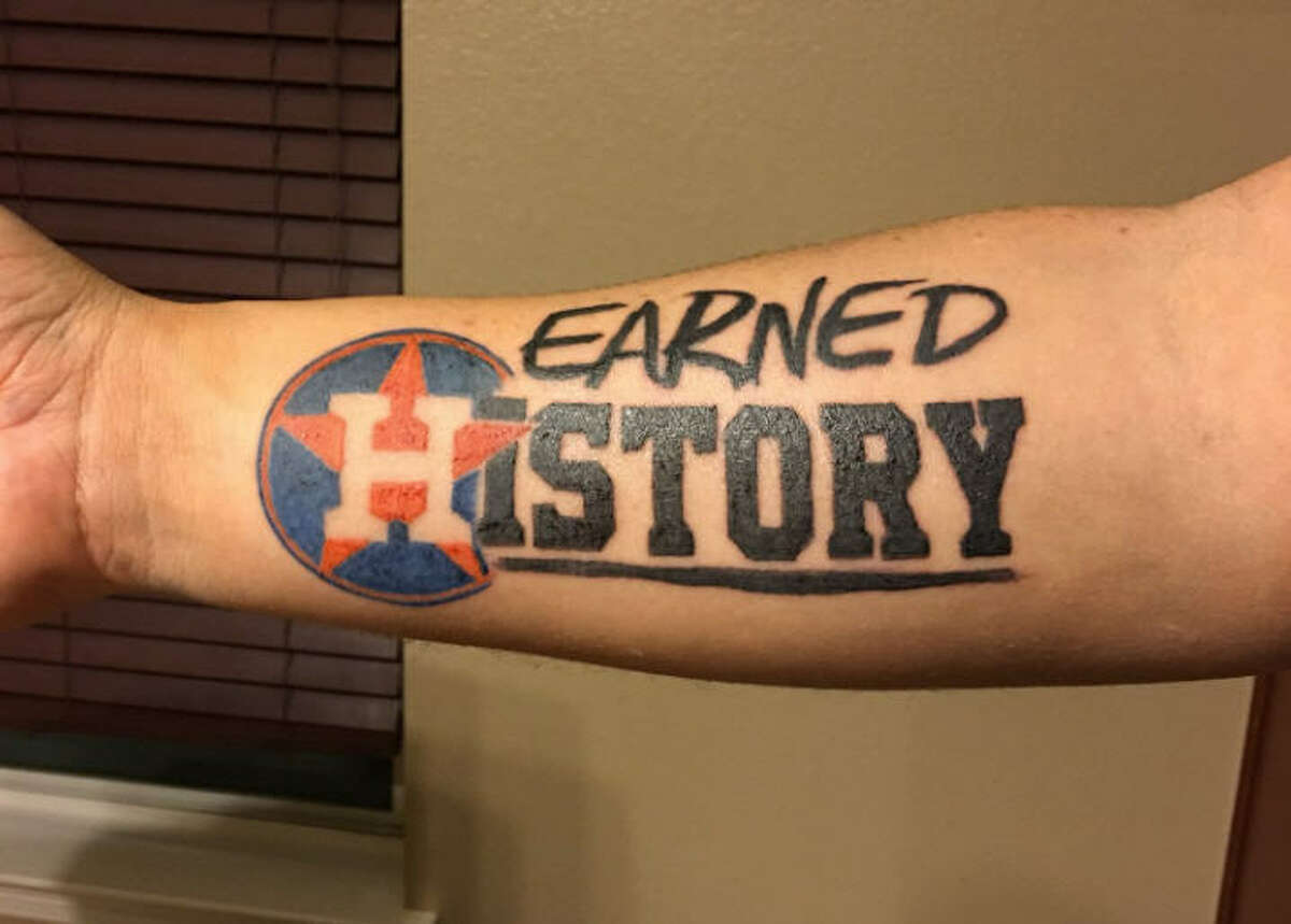 Tim Craft got this tattoo on his forearm as a symbol
