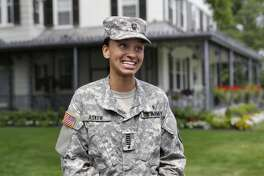 Cadet Simone Askew, of Fairfax, Va., the first captain of the U.S. Military Academy Corps of Cadets, earned another prestigious honor Sunday when she was named one of 32 Americans awarded Rhodes scholarships to study at Oxford University in England.