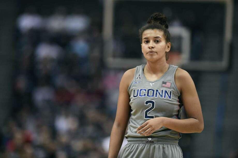 UConn's Andra Espinoza-Hunter. Photo: Jessica Hill / Associated Press / AP2017