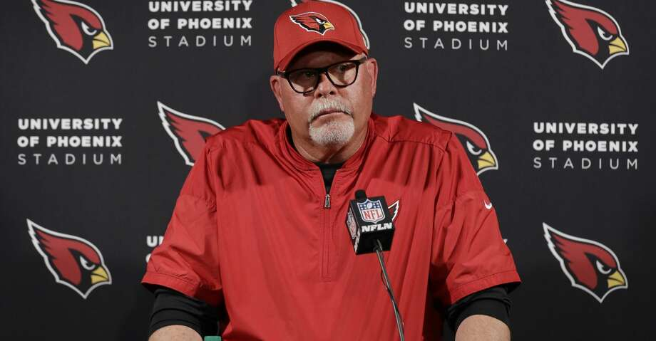 Arizona Cardinals head coach Bruce Arians talks to the media following an NFL football game against the Houston Texans, Sunday, Nov. 19, 2017, in Houston. (AP Photo/David J. Phillip) Photo: David J. Phillip/Associated Press