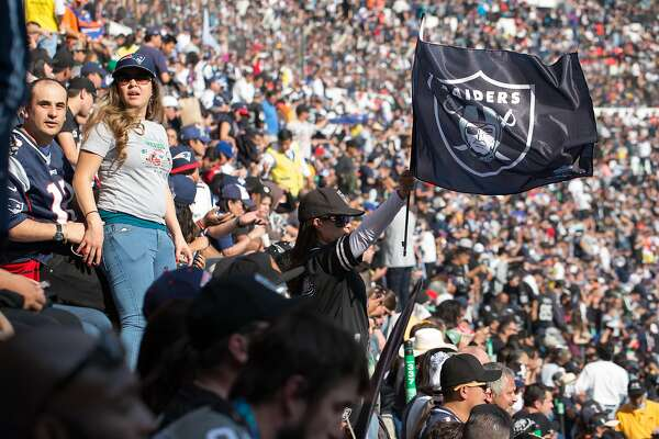 MEXICO CITY, MEXICO - NOVEMBER 19: Football fans during the Patriots versus Raiders football game at the Azteca Stadium on November 19, 2017 in Mexico City, Mexico.