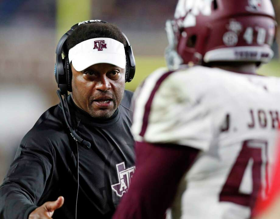 Texas A&M coach Kevin Sumlin will lead his 7-4 team into Baton Rouge with a chance to beat LSU for the first time since the Aggies joined the SEC in 2012. Photo: Rogelio V. Solis, STF / Copyright 2017 The Associated Press. All rights reserved.