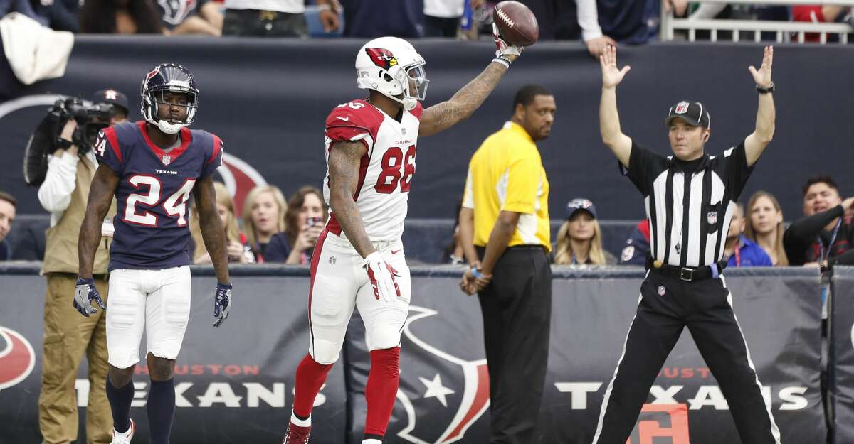 Arizona Cardinals tight end Ricky Seals-Jones (86) reacts after scoring a touchdown during the second quarter of an NFL football game at NRG Stadium, Sunday, Nov. 19, 2017, in Houston. ( Karen Warren / Houston Chronicle )