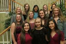 Torrington volleyball seniors and coaches got together as a team for the final time Sunday evening at Chatterly's Banquet Facility. They are, front row, from left: Tatum Marino, Lauren Gaghan, Izzy Weber. Second row: Jocelyn Zordan, Bayleigh DiMauro, Shae Eucalitto, Head Coach Christine Gamari. Third row: Coach Pat Strawson, Nina Lestrud, Vivian Jimezen-Rijo, Candyce Jewett, Coach Maryann Musselman.