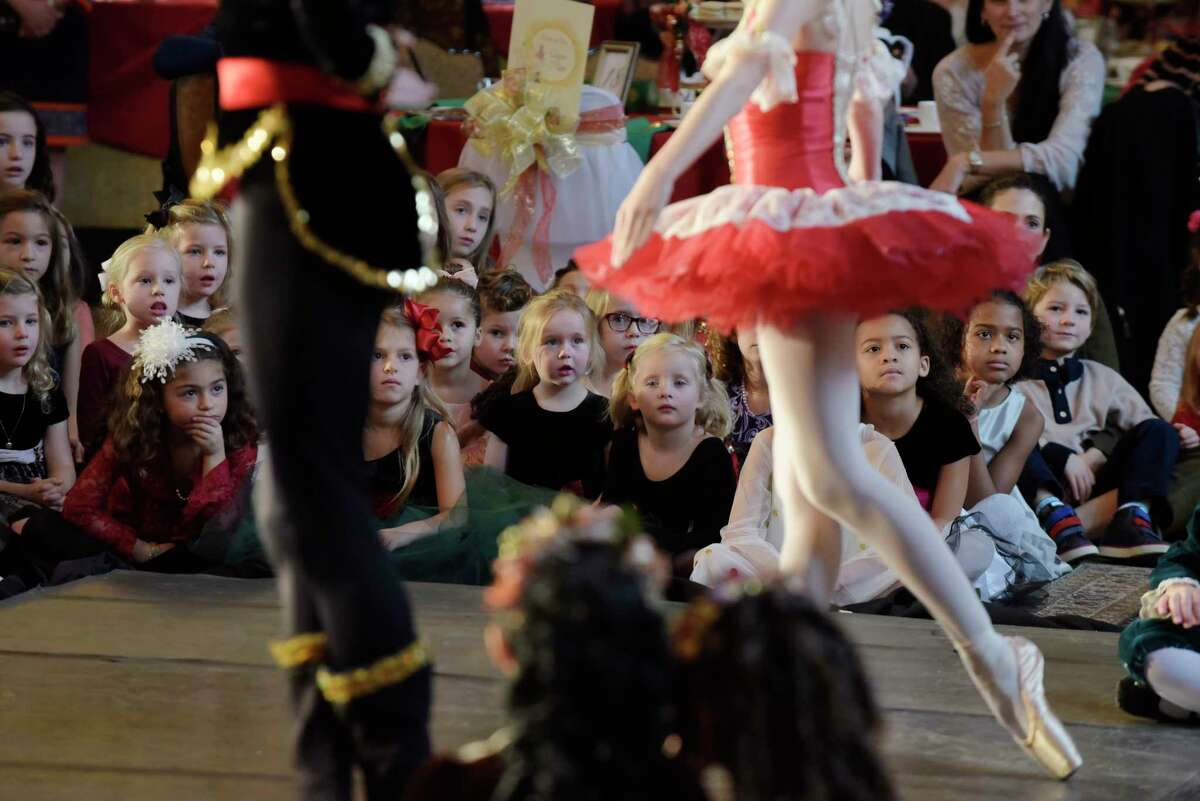 Children watch as members of the Northeast Ballet Company perform during the 2017 Nutcracker Tea at SPAC on Sunday, Nov. 19, 2017, in Saratoga Springs, N.Y. (Paul Buckowski / Times Union)