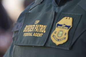 CBP Border Patrol during a news conference announcing the completion of the border wall prototypes on Thursday, Oct. 26, 2017. (John Gibbins/San Diego Union-Tribune/TNS)