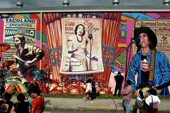 "The mural ""La Musica De San Anto"" honors area musicians who have passed including Manny Castillo."