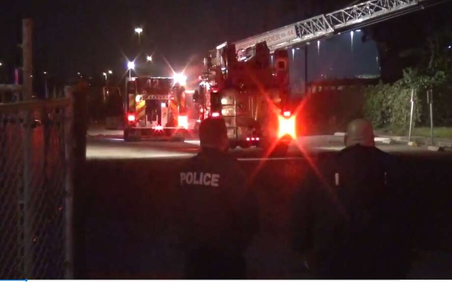 A fire broke out at Furr High School, on Mercury Drive, around midnight on Nov. 19, 2017. The cause and extent of the fire's damage are still unclear. Photo: Metro Video LLC