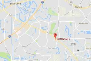 A one-car accident in Sugar Land sent a man to the hospital Sunday.