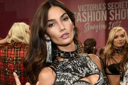 SHANGHAI, CHINA - NOVEMBER 20:  Victoria's Secret Angel Lily Aldridge poses backstage during 2017 Victoria's Secret Fashion Show In Shanghai at Mercedes-Benz Arena on November 20, 2017 in Shanghai, China.  (Photo by Kevin Mazur/Getty Images for Victoria's Secret)