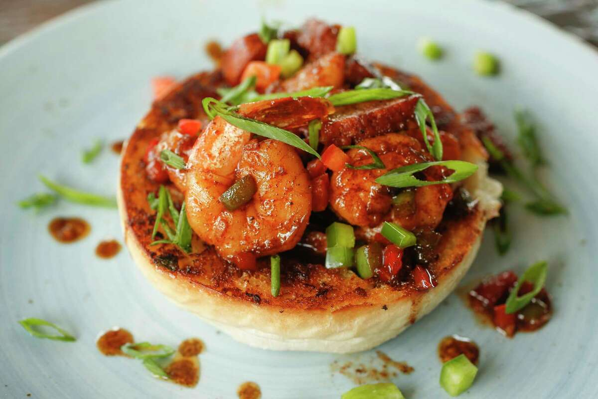 New Orleans BBQ Shrimp at the new Union Kitchen restaurant opening Nov. 20 at 6011 Washington at the Westcott circle.