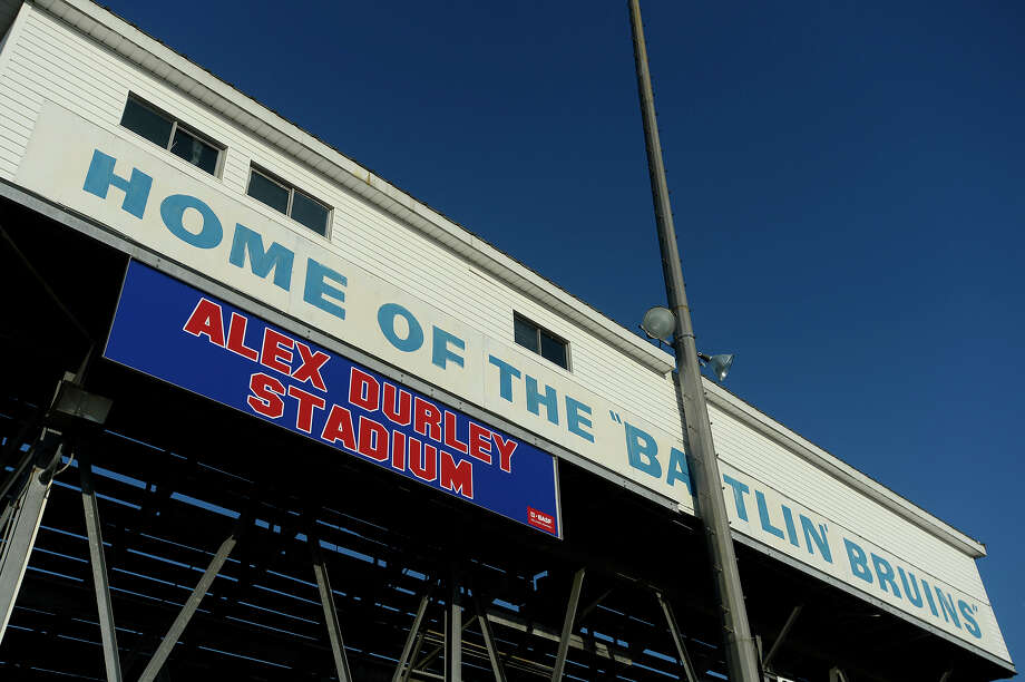 West Brook High School's Alex Durley Stadium is named for the school's first head football coach. Durley was the coach at Hebert High School before the merger with Forest Park. West Brook won the state championship in 1982 under Durley's leadership.  Photo taken Thursday 8/4/16 Ryan Pelham/The Enterprise Photo: Ryan Pelham / ©2016 The Beaumont Enterprise/Ryan Pelham