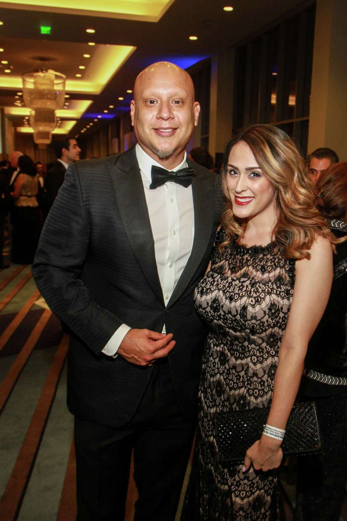 Jose F. Gonzales III, and Natalia Miralles at the Houston Hispanic Chamber of Commerce annual awards and gala.