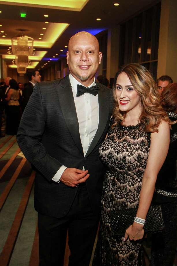 Jose F. Gonzales III, and Natalia Miralles at the Houston Hispanic Chamber of Commerce annual awards and gala. Photo: Gary Fountain, For The Chronicle/Gary Fountain / Copyright 2017 Gary Fountain