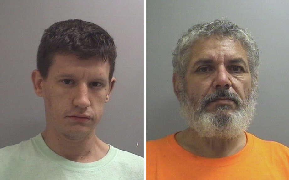 Brian Lott, left, and Pablo Martinez were arrested in a La Porte narcotics bust on Nov. 9, 2017. Photo: La Porte Police Department